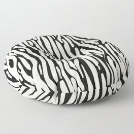 Zebra Stripes Tribal Black and Cream Floor Pillow