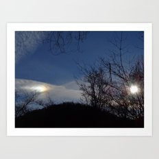 Bright Sundog Art Print