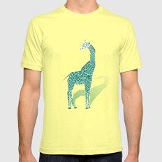 Animal Kingdom: Giraffe III Lemon Mens Fitted Tee SMALL