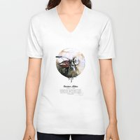 atlas V-neck T-shirts featuring Norton Atlas by istraille