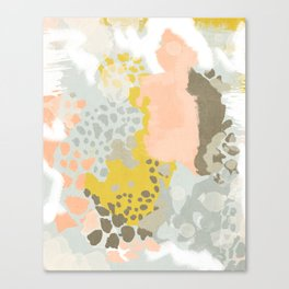 Upton - Abstract painting perfect for dorm room phone case abstract art and feminine abstract art Canvas Print