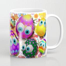 Cute Easter Eggs Cartoon 3d Pattern Coffee Mug
