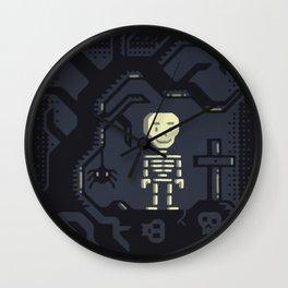 Skeleton boy artwork Wall Clock