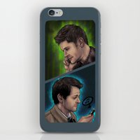 destiel iPhone & iPod Skins featuring Destiel Love Calls by Seraph Limonade