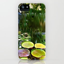 Greenery Pond iPhone Case