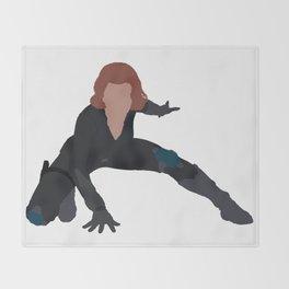 I Am a Black Widow Throw Blanket