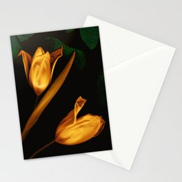 Tulips of the golden age Stationery Cards