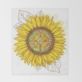 Sunflower Compass Throw Blanket