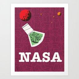Vintage NASA Space poster Art Print