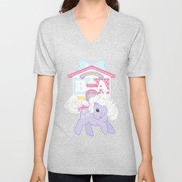g1 my little pony baby blossom at lullabye nursery Unisex V-Neck