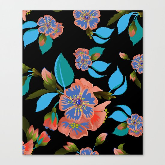tas.color flower pattern Canvas Print