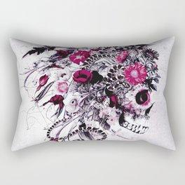 Skull Red Rectangular Pillow