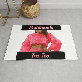 Artwork Rosalia Malamente Tra Tra pink letter cartel Rug