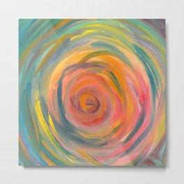 Swirl Abstract  Metal Print