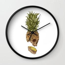 Pineapple Skull Wall Clock