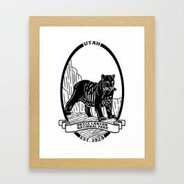 Bryce Canyon Emblem Framed Art Print