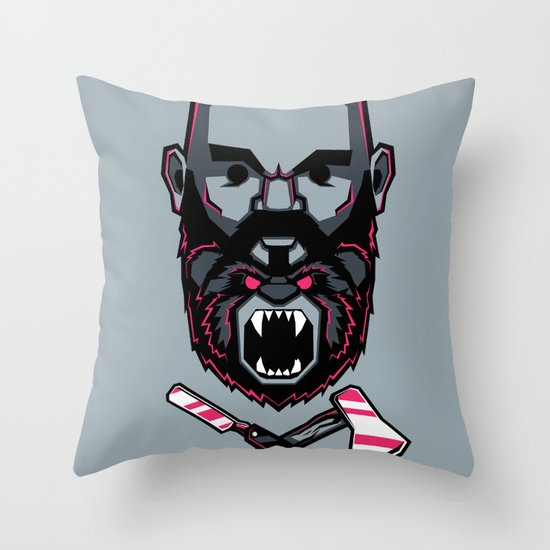 Wild BEARd Throw Pillow