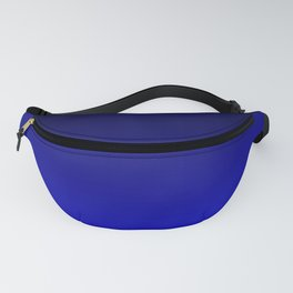Black and Cobalt Gradient Fanny Pack