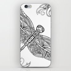 Fly with me through the wind, my dragonfly. iPhone & iPod Skin