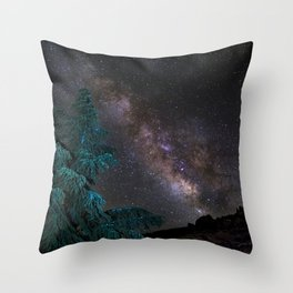 """""""Milky-way at the mountains"""". Summer  Throw Pillow"""