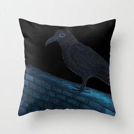 Raven Night Throw Pillow