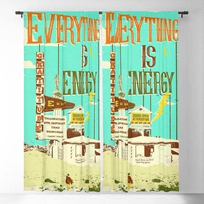 EVERYTHING IS ENERGY Blackout Curtain