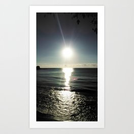 Shortly after sunrise near Nessebar beach, Bulgaria, the Black Sea Art Print