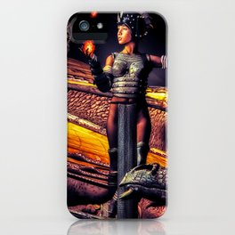 A Girl and Her Dragons iPhone Case