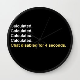 Calculated. Wall Clock