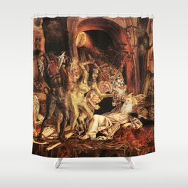 Demons attack!! Shower Curtain