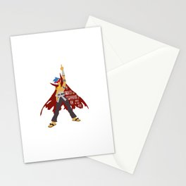 Kick reason to the curb! Stationery Cards