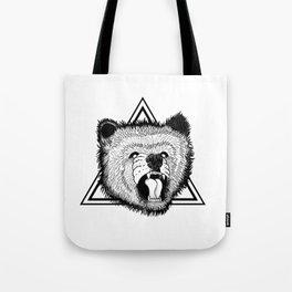 angry bear Tote Bag