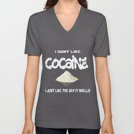 Cocaine Coke Coca Line Blow Drug Sniff Snort Gift Unisex V-Neck