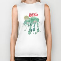 dead Biker Tanks featuring Walker's Dead by Victor Vercesi