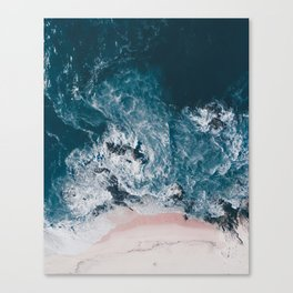 I love the sea - written on the beach Canvas Print