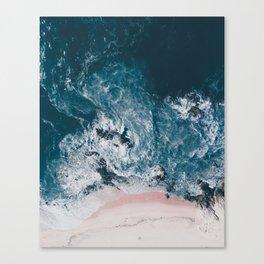 I love the sea - written on the beach Canvas Print