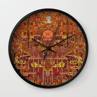 apollo Wall Clocks featuring Apollo by mattmacpherson