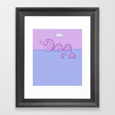 Little Nessie Framed Art Print