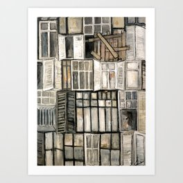 Les anciennes fenêtres  Art Print