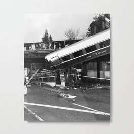 Amtrak Train Metal Print