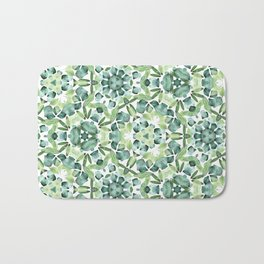 Green petal kaleidoscope  Bath Mat