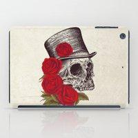 gentleman iPad Cases featuring Dead Gentleman by Rachel Caldwell