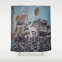 venice Shower Curtains featuring Venice by Stefanie Sharp