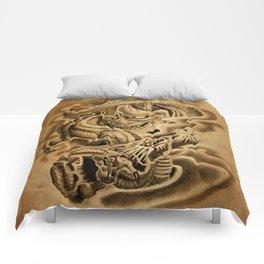 Hannya Dragon Comforters