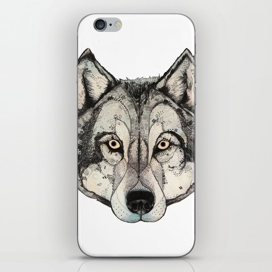 Wolf Mask iPhone & iPod Skin