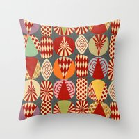 blankets Throw Pillows featuring christmas tree MINIMALIST by Chicca Besso
