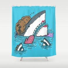 The Mom Shark Shower Curtain