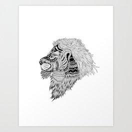 HAKUNA LION Art Print