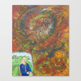 daydreamer opening the otherworld Canvas Print