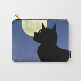 Moon and black cat Carry-All Pouch